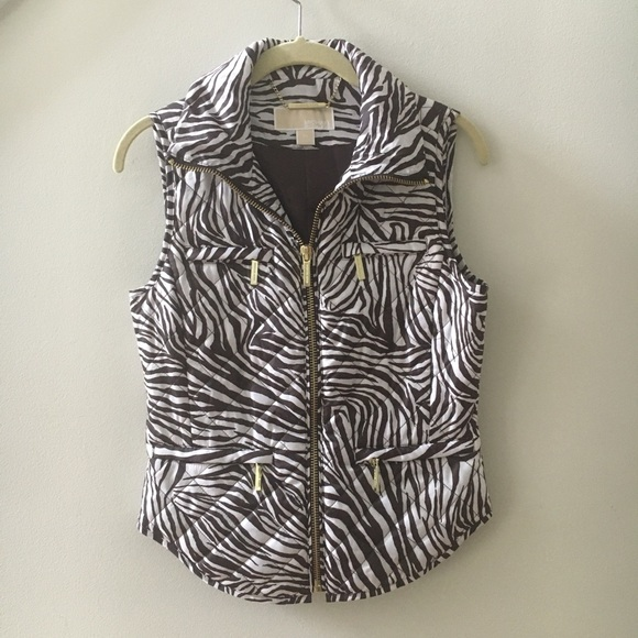 Michael Kors Jackets & Coats | Animal Print Quilted Vest ...